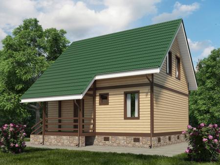цвет сайдинга фото под зеленую крышу